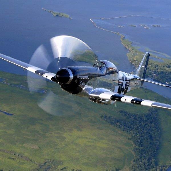 История,самолёт,путешествия,авиация, Энтузиасты показали мир глазами пилота истребителя P-51 Mustang
