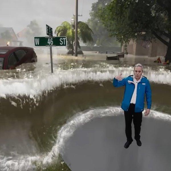 природа,видео,погода, Над США бушует ураган «Флоренс». Американцам наглядно показали силу и опасность стихии